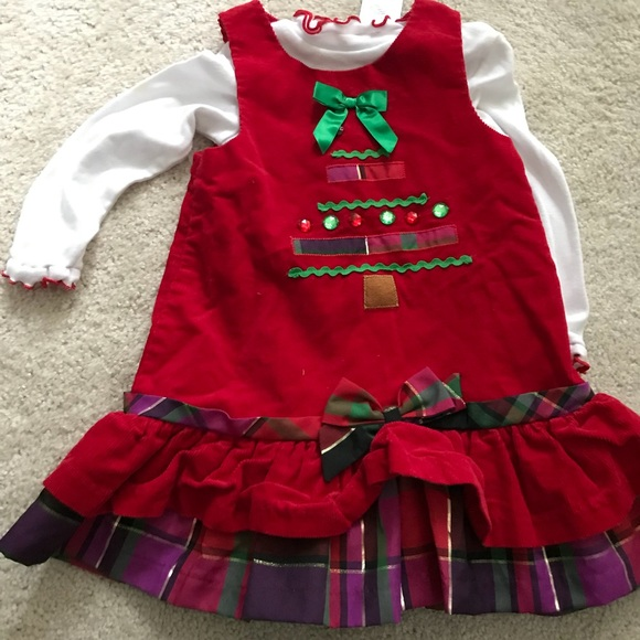 bonnie baby 24 month christmas outfit